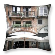 0505 Verona Cafe Throw Pillow