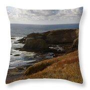 0513  Yaquina Lighthouse Throw Pillow