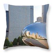 0553 Millennium Park Chicago Throw Pillow