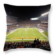 0586 Soldier Field Chicago Throw Pillow by Steve Sturgill