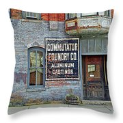 0605 Old Foundry Building Throw Pillow