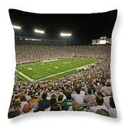0610 Lambeau Field Throw Pillow