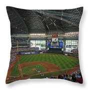 0611 Miller Park Throw Pillow