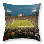 0615 Prime Time At Lambeau Field Throw Pillow