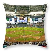 0618 Milwaukee's Miller Park Throw Pillow