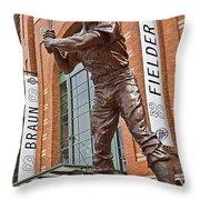 0620 Hank Aaron Statue Throw Pillow
