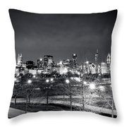 0647 Chicago Black And White Throw Pillow