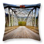 0649 Bow River Bridge Throw Pillow