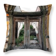 0707 Jerome Ghost Town Throw Pillow