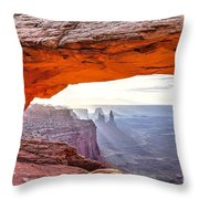0710 Mesa Arch Throw Pillow