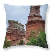 07.30.14 Palo Duro Canyon - Lighthouse Trail  19e Throw Pillow