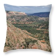 07.30.14 Palo Duro Canyon - Lighthouse Trail 5e Throw Pillow