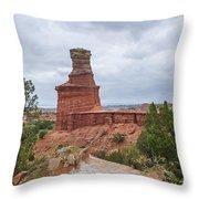 07.30.14 Palo Duro Canyon - Lighthouse Trail 62e Throw Pillow