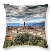0753 Florence Italy Throw Pillow
