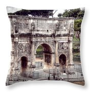 0793 Arch Of Constantine Throw Pillow