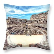 0795 Roman Colosseum Throw Pillow