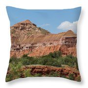 08.03.14 Palo Duro Canyon Rojo Grande Trail 10e Throw Pillow