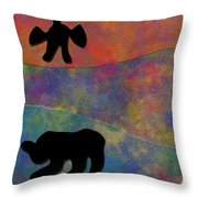 0864 Abstract Thought Throw Pillow