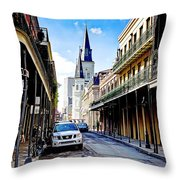0928 St. Louis Cathedral - New Orleans Throw Pillow