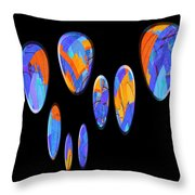 0986 Abstract Thought Throw Pillow
