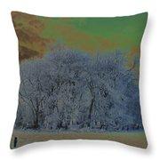 An Irish Winter Scene Throw Pillow