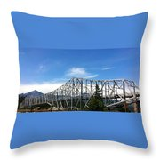 Bridge Of Gods Throw Pillow