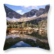 Cirque Of The Towers In Lonesome Lake 5 Throw Pillow