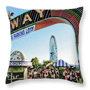 Midway Fun And Excitement  Throw Pillow