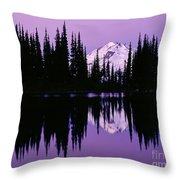 Glacier Peak  In Image Lake Throw Pillow