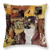 Icelandic Sheepdog Art Canvas Print  Throw Pillow