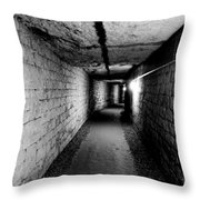 Image Of The Catacomb Tunnels In Paris France Throw Pillow