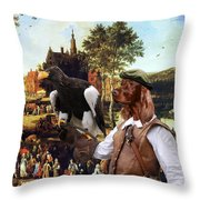Irish Setter Art Canvas Print Throw Pillow