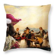Irish Water Spaniel Art Canvas Print Throw Pillow