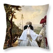 Japanese Chin Art Canvas Print  Throw Pillow