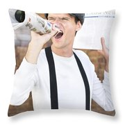 Paperboy Throw Pillow