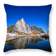 Prusik Peak Reflects In Gnome Tarn Throw Pillow