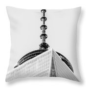 Scenery Near World Trade Center In New York C Throw Pillow