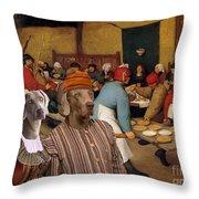 Weimaraner Art Canvas Print  Throw Pillow