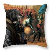 Wetterhoun Art Canvas Print Throw Pillow