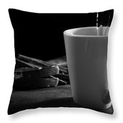 Workman's Coffee Break Throw Pillow