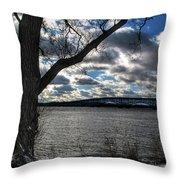 002 Grand Island Bridge Series Throw Pillow