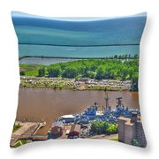004 Visual Highs Of The Queen City Throw Pillow