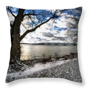 008 Grand Island Bridge Series Throw Pillow