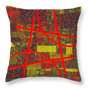 0225 Abstract Thought Throw Pillow