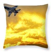 1-iaf F-16i Fighter Jet Throw Pillow