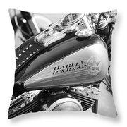 110th Anniversary Harley Davidson Throw Pillow