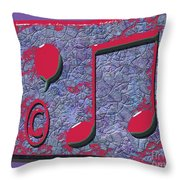 1309 Abstract Thought Throw Pillow