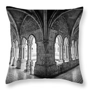 13th Century Gothic Cloister Throw Pillow