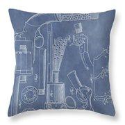 1856 Revolver Patent Throw Pillow
