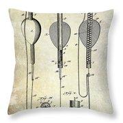 1902 Self Strike Fish Float Patent Throw Pillow